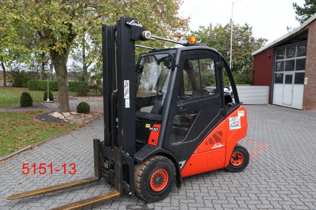 Linde-H 30 T 01-Treibgasstapler-http://www.heftruckcentrumemmen.nl