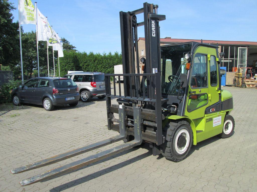 Clark C50sD - nur 800 Bst. Dieselstapler www.gabelstapler-heckert.de