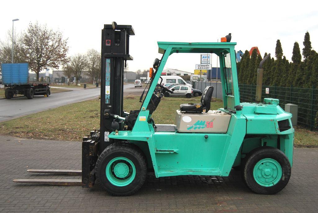 Mitsubishi FD60 Dieselstapler www.hinrichs-forklifts.com