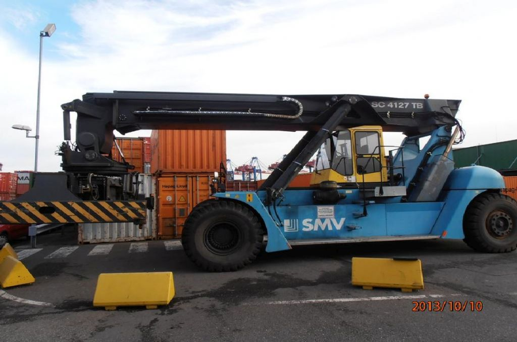 SMV SC4127TB5 Vollcontainer Reachstacker www.hinrichs-forklifts.com
