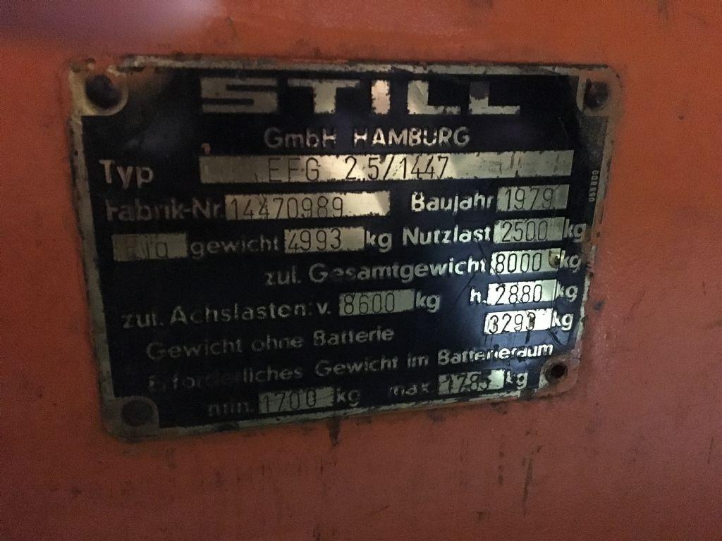 Still-EFG2.5-Elektro 3 Rad-Stapler http://www.isfort.com