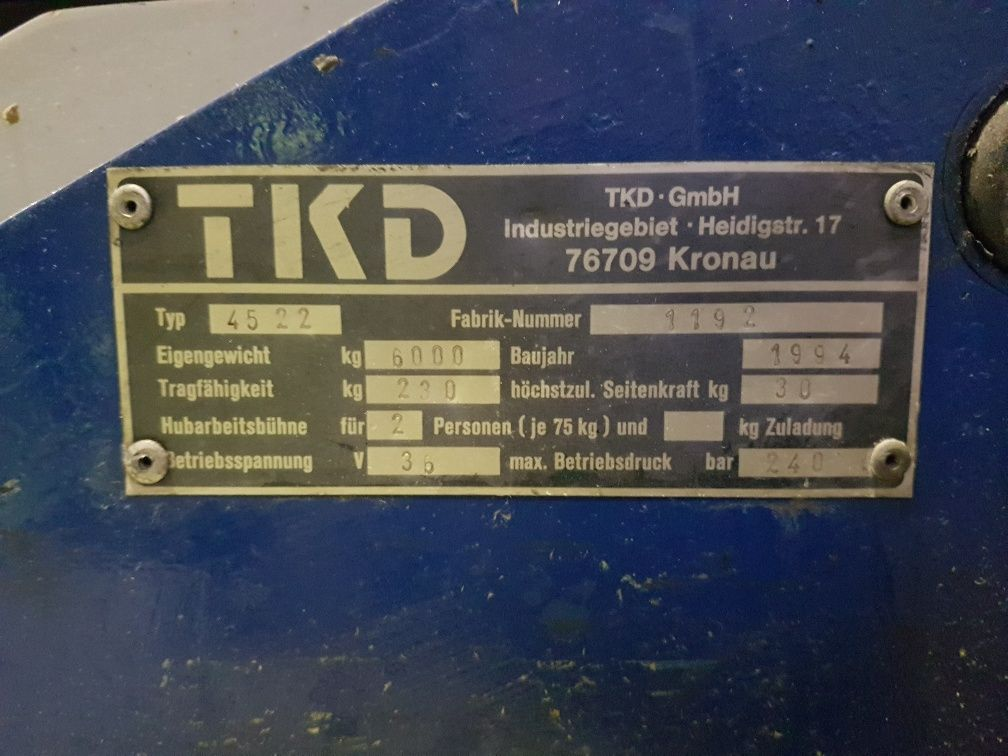 TKD-45 22-Gelenkteleskopbühne http://www.isfort.com