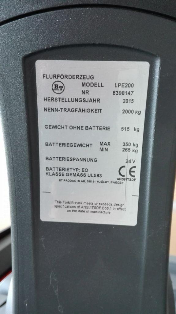 BT-LPE200-Niederhubwagen http://www.kirchner-gabelstapler.de