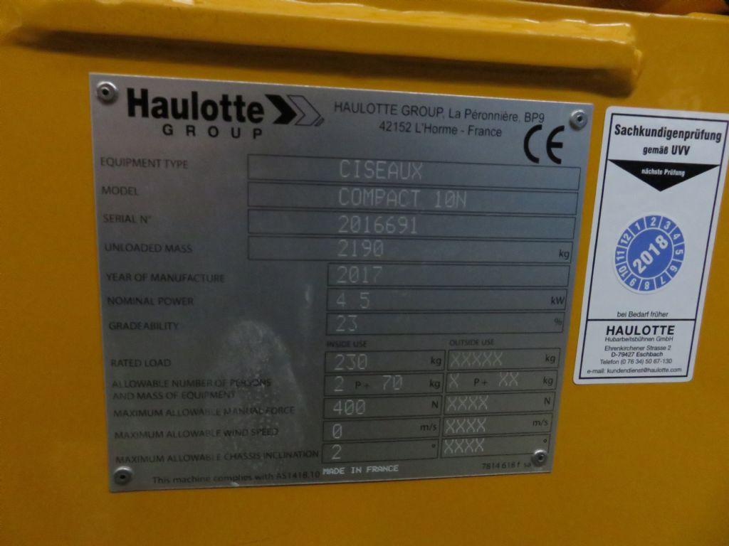 Haulotte-Compact 10 N-Scherenarbeitsbühne-www.krause-salem.de