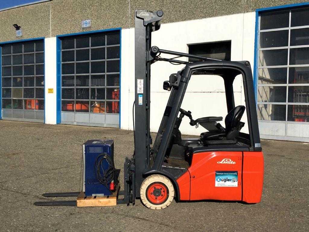 Linde-E16C-01-Elektro 3 Rad-Stapler-http://www.kugler.net
