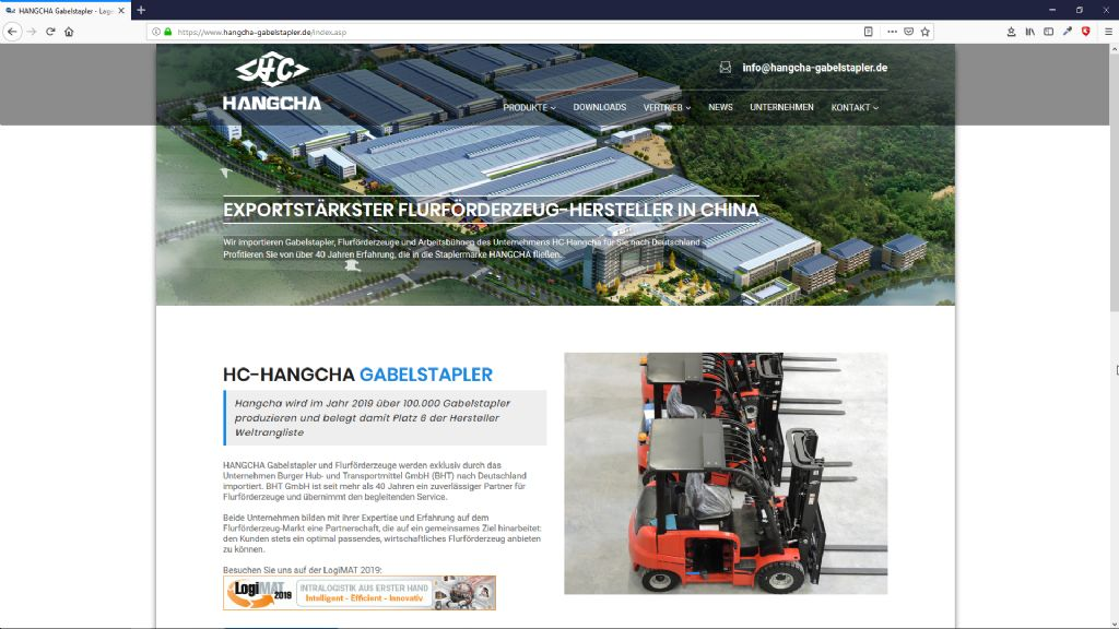 HC Hangcha Gabelstapler - BHT Burger Hub- u. Transportmittel GmbH