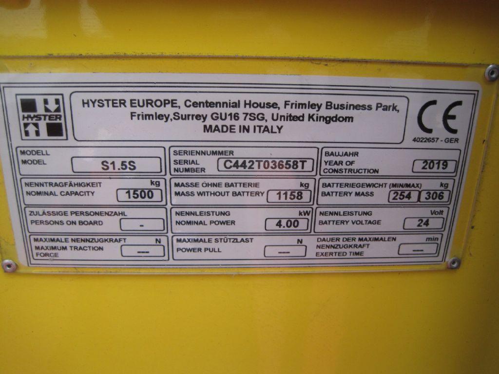 Hyster S 1.5 S Hochhubwagen agravis-stapler.de