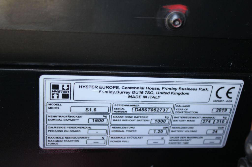 Hyster S 1.6 Hochhubwagen agravis-stapler.de