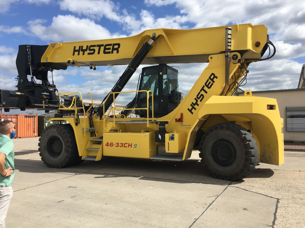 Hyster RS46-33CH Vollcontainer Reachstacker agravis-stapler.de