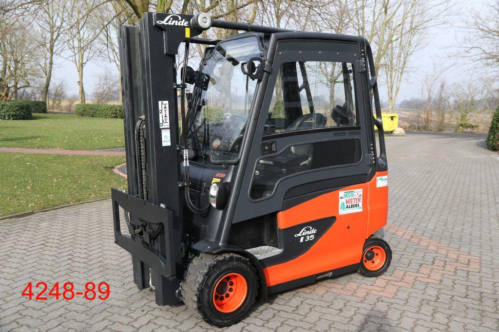 Linde-E 35 HL 01-Elektro 4 Rad-Stapler-http://www.albers-gabelstapler.de