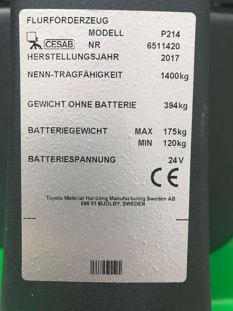 Cesab-P214 überbreit-Niederhubwagen-www.andres-gabelstapler.de