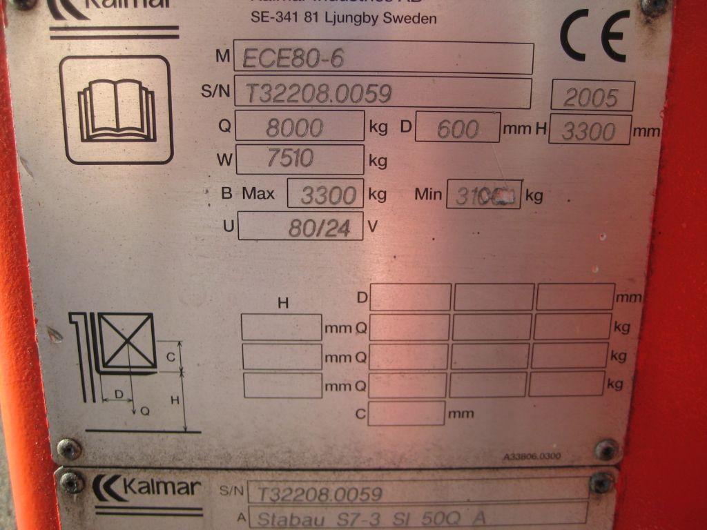 Kalmar ECE80-6 Elektro 4 Rad-Stapler www.staplerzentrum-leipzig.de