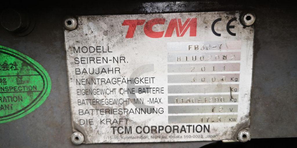 TCM TCM FB30-7 Elektro 4 Rad-Stapler www.hangcha-gabelstapler.de