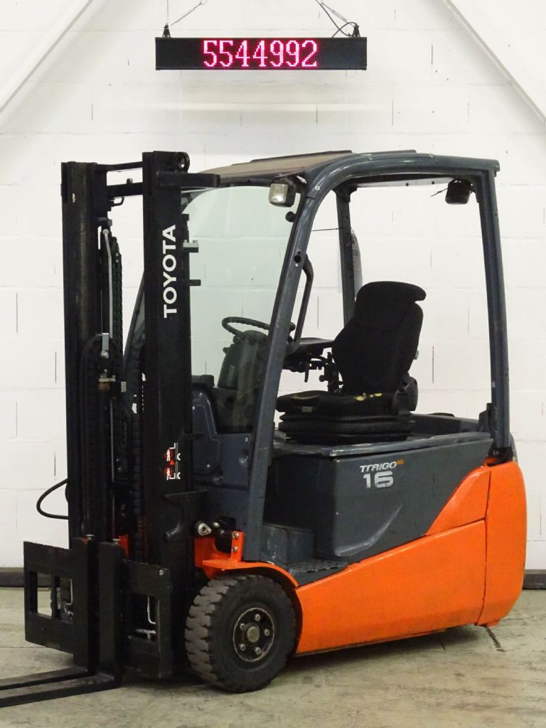 Buy Used Toyota 8FBET16 - Electric 3-wheel forklift 1600 kg
