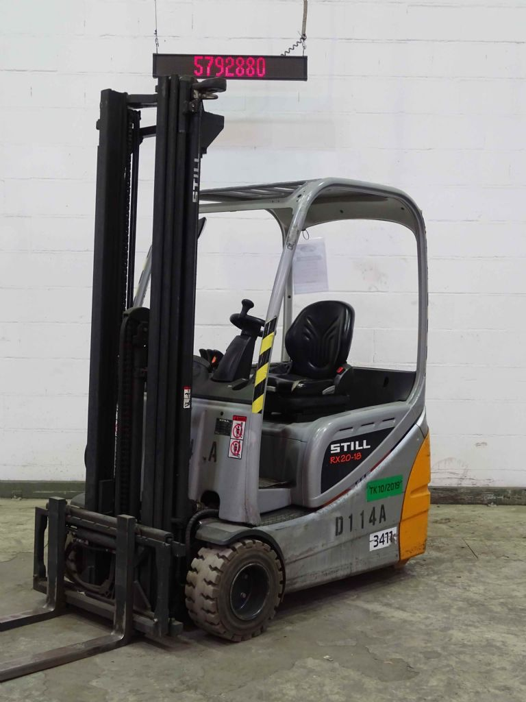 Still RX20-18 Electric 3-wheel forklift www.blackforxx.com