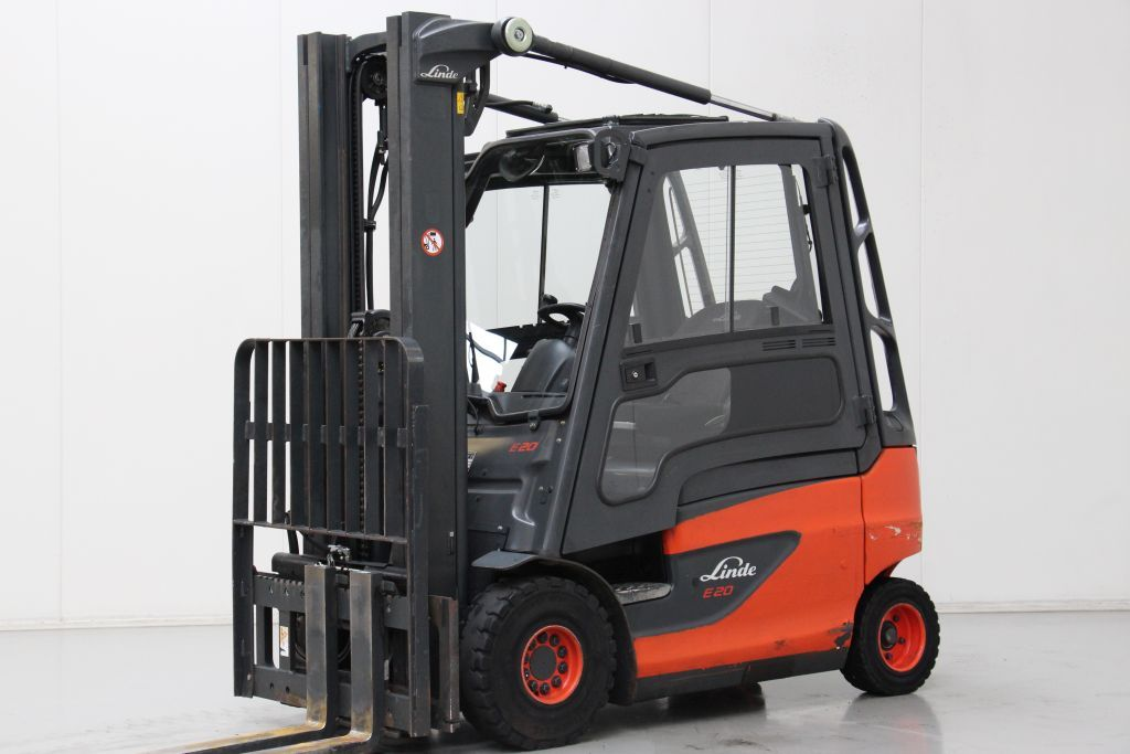 Linde E20 Electric 4-wheel forklift http://www.bsforklifts.com