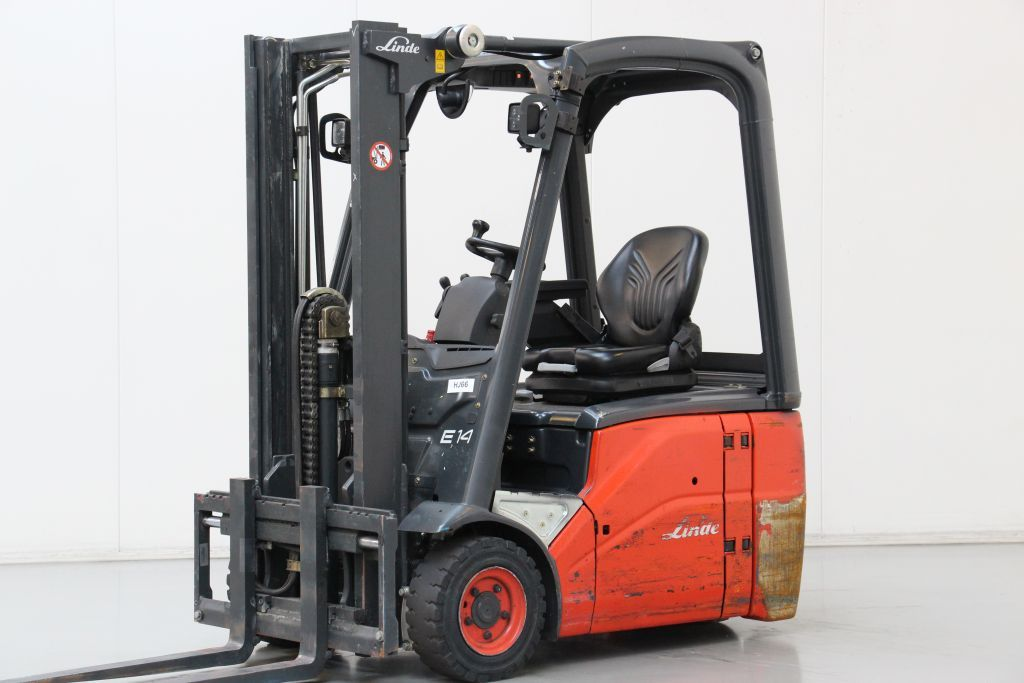 Linde E14-01 Electric 3-wheel forklift www.bsforklifts.com