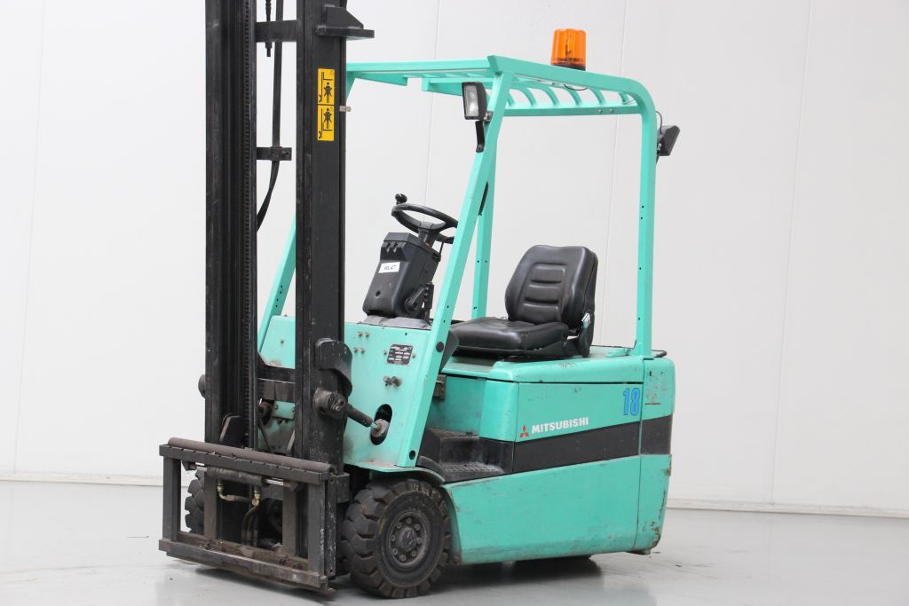 Mitsubishi FB18KT Electric 3-wheel forklift www.bsforklifts.com