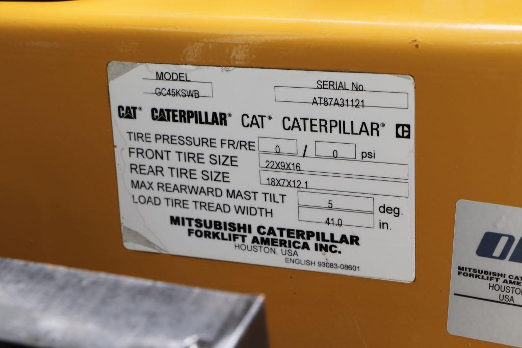 Used forklift trucks: BS Forklifts | Caterpillar GC45K-SWB