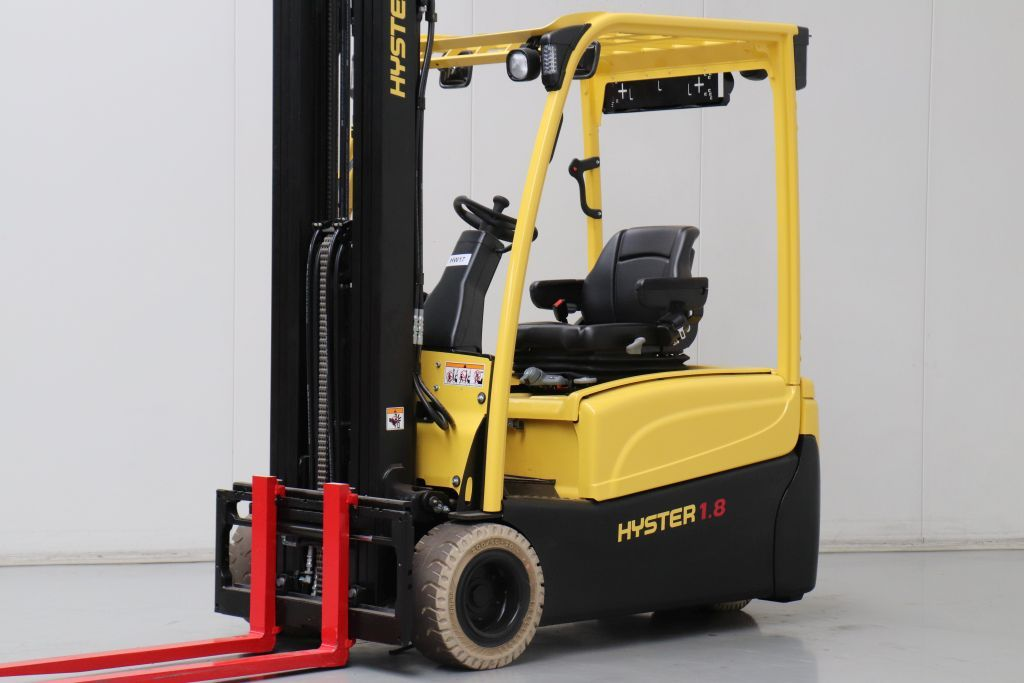 Hyster J1.8XNT Electric 3-wheel forklift www.bsforklifts.com