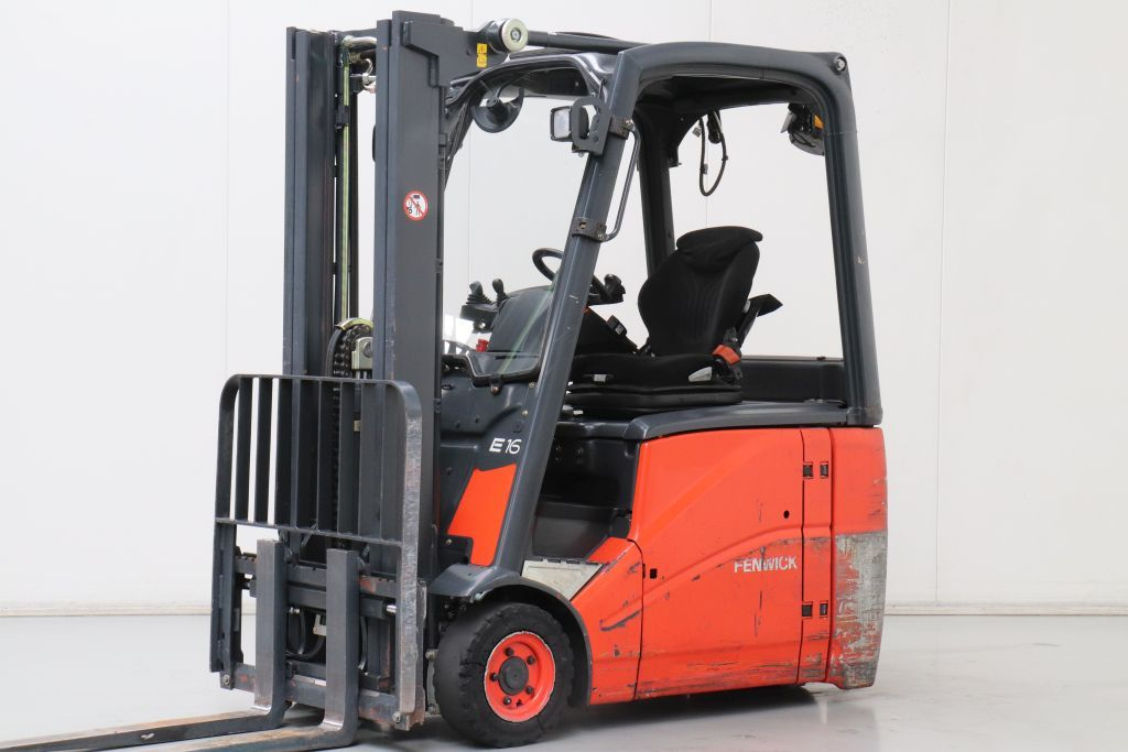 Linde E16H-01 Electric 3-wheel forklift www.bsforklifts.com