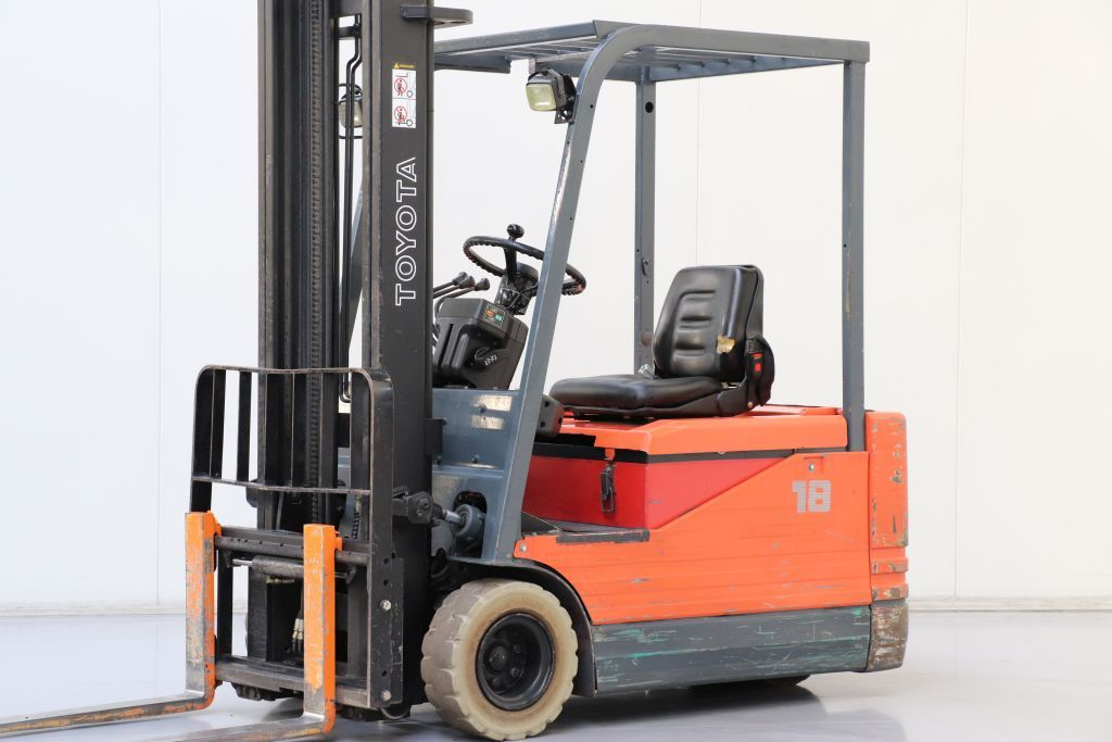 Toyota 5FBE18 Electric 3-wheel forklift www.bsforklifts.com