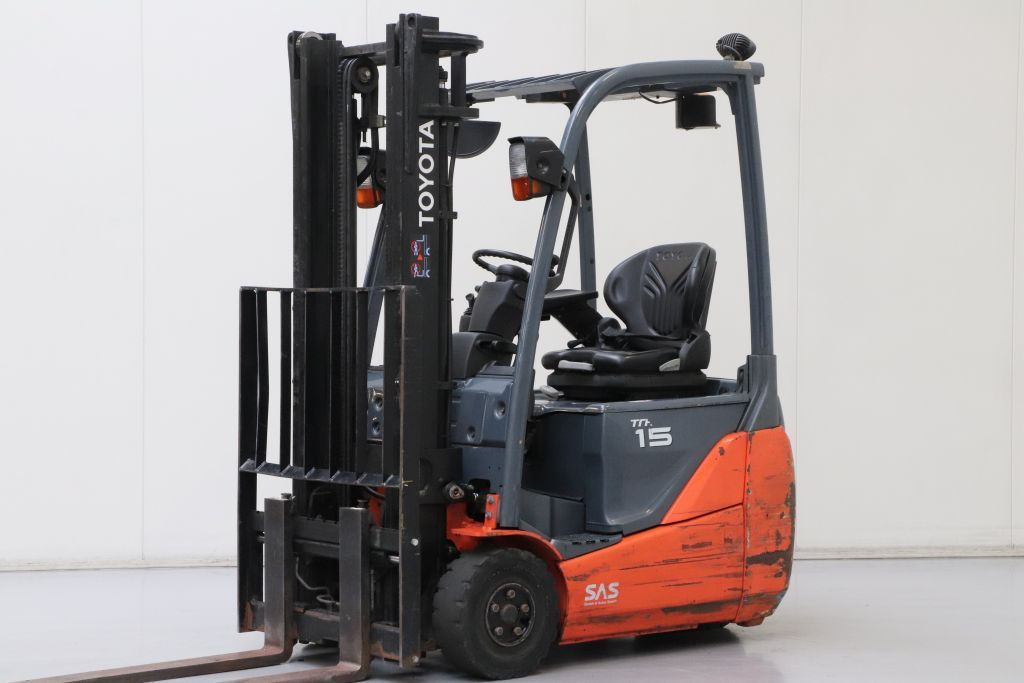 Toyota 8FBET15 Electric 3-wheel forklift www.bsforklifts.com