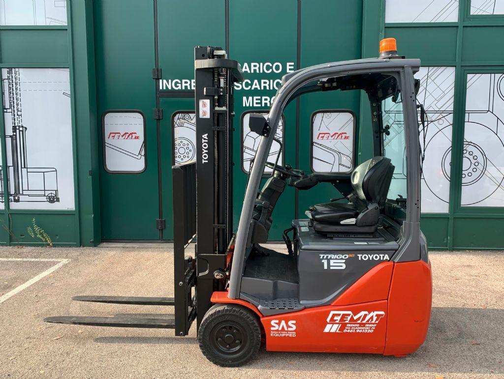 Toyota 8FBET15 Elettrico 3 ruote www.cemiat.com