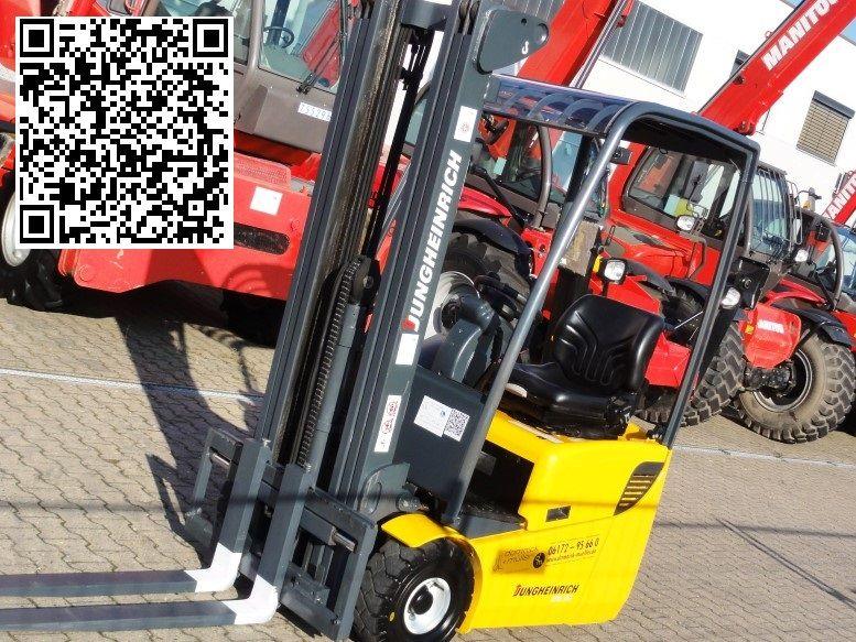 Jungheinrich-EFG 110k -630 hours/new Battery-Elektro 3 Rad-Stapler domnick-mueller.de