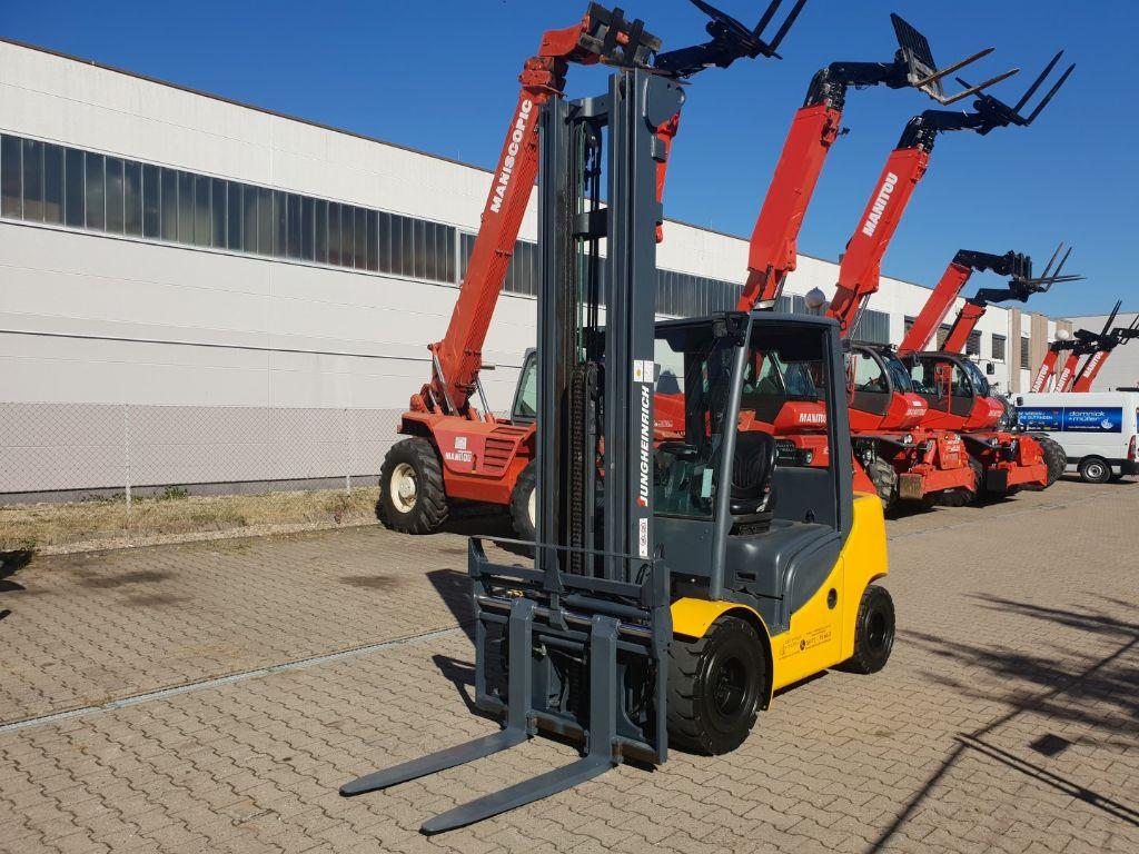 Jungheinrich-DFG 430 Hub 7,5 Meter-Dieselstapler domnick-mueller.de