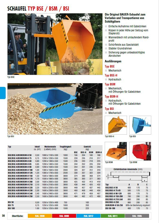 Bauer-BSE 1000-Schüttgutschaufel-www.eckl-stapler.de