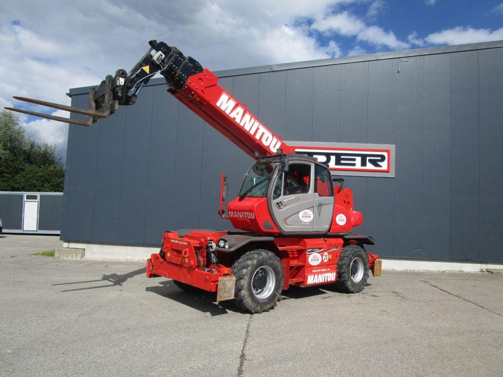 Manitou MRT 2150 + Privilege ST4 Teleskopstapler drehbar www.eder-stapler.de