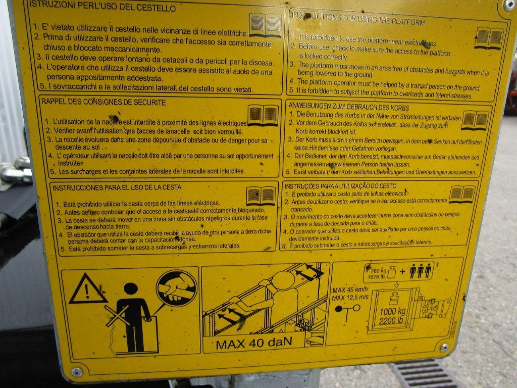 Manitou Tunnelarbeitsbühne, Drehbühne fixiert Zubehör www.eder-stapler.de