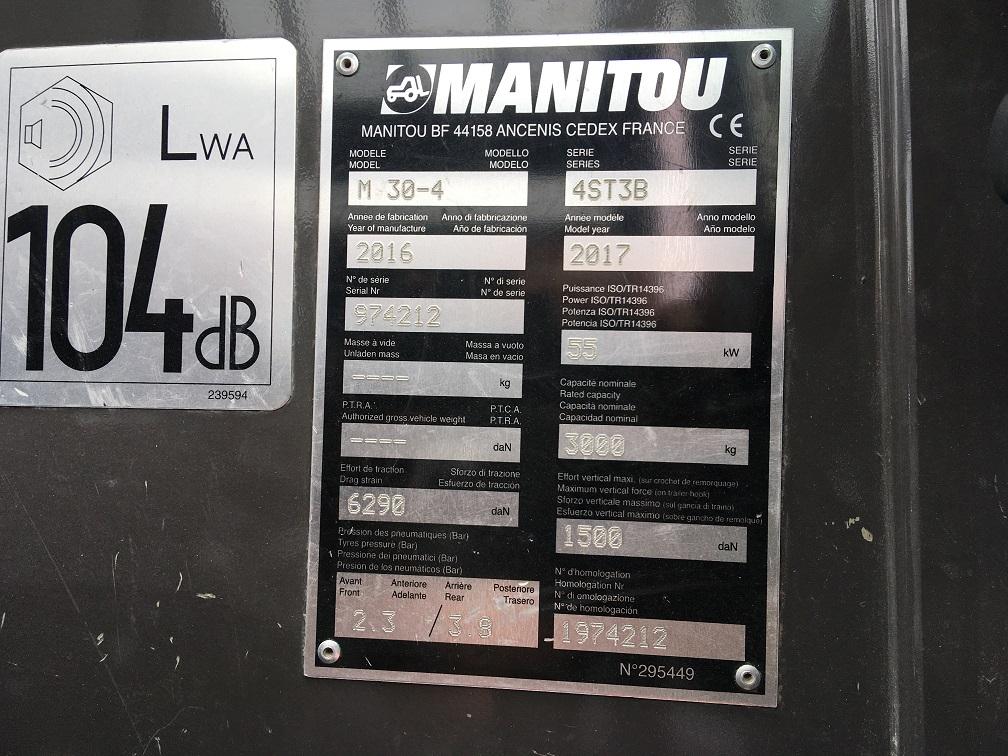 Manitou M 30.4  4ST3B Geländestapler www.eder-stapler.de