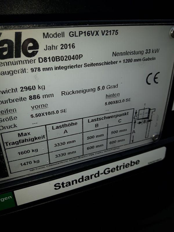 Yale-GLP 16 VX Vorführgerät-Treibgasstapler-www.eo-stapler.de