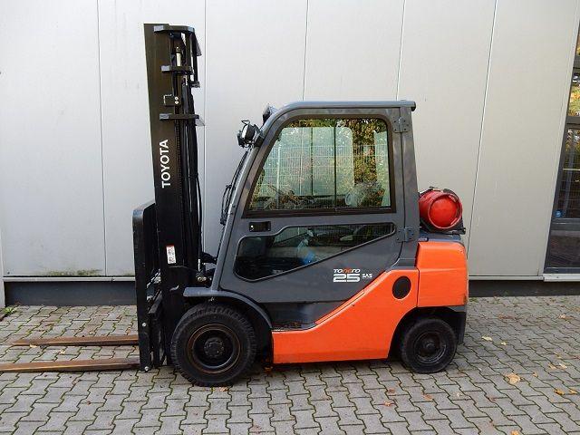 Toyota-02-8FGF25, 870 Stunden-Treibgasstapler-www.eundw.com