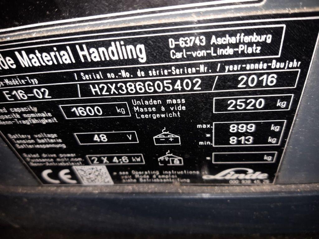 Linde-E16EVO-Elektro 4 Rad-Stapler www.ffb-gabelstapler.de