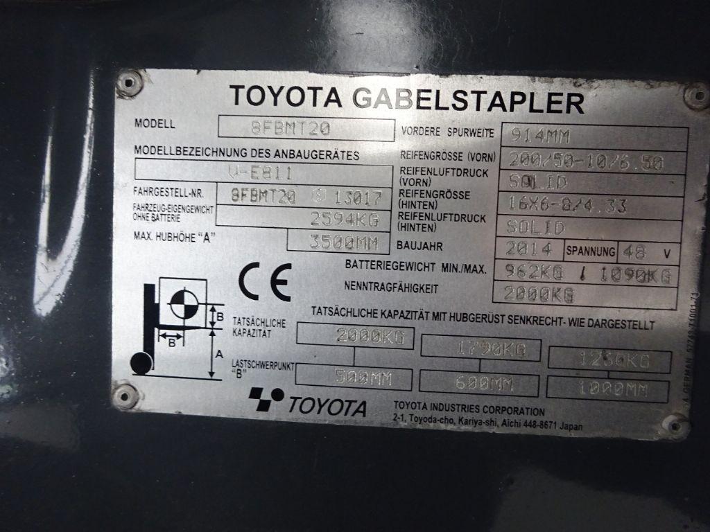 Toyota-8FBMT20-Elektro 4 Rad-Stapler www.ffb-gabelstapler.de