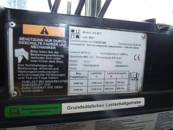 Hyster-H 2.5 FT G-Treibgasstapler-www.fischer-gabelstapler.de