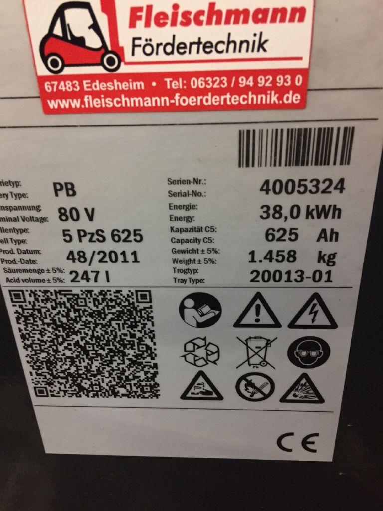 *Sonstige-80V Batterie 625Ah Bj. 48/2011-Antriebsbatterie-www.fleischmann-foerdertechnik.de