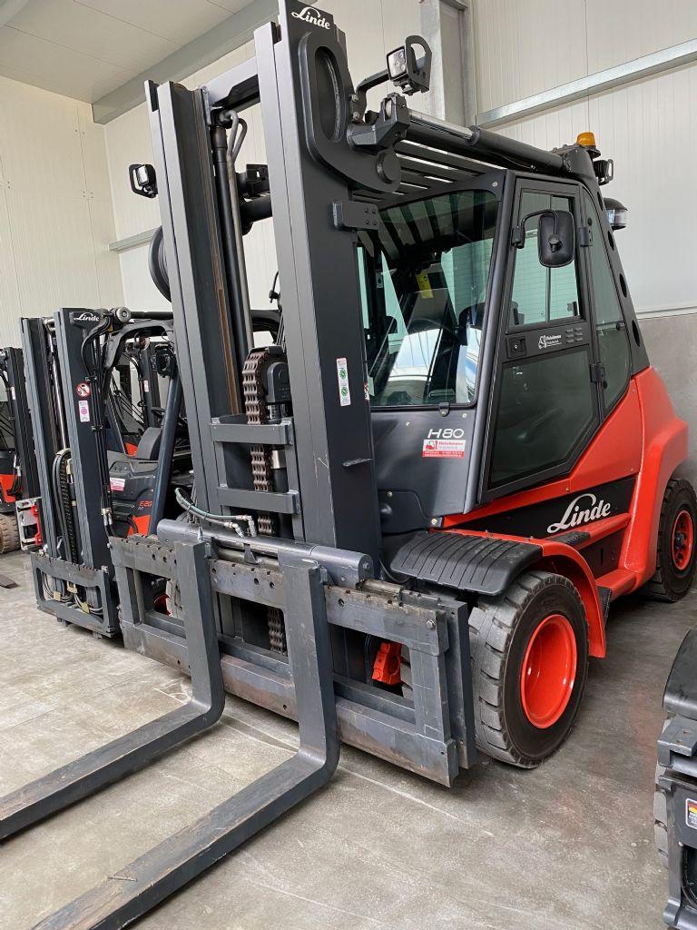 Linde H 80 D-01 Triplex MIETGERÄT  Dieselstapler www.mr-staplerservice.de