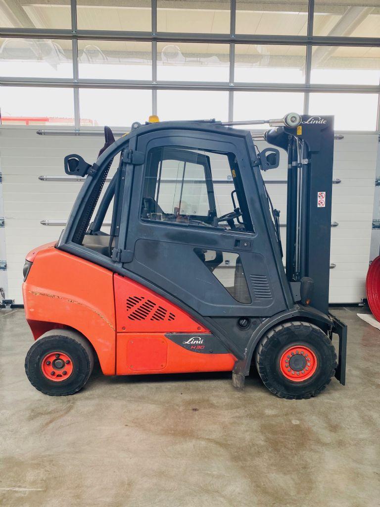 Linde-H 30 D-02 EVO 3B Triplex Kabine STVO-Dieselstapler-www.fleischmann-foerdertechnik.de