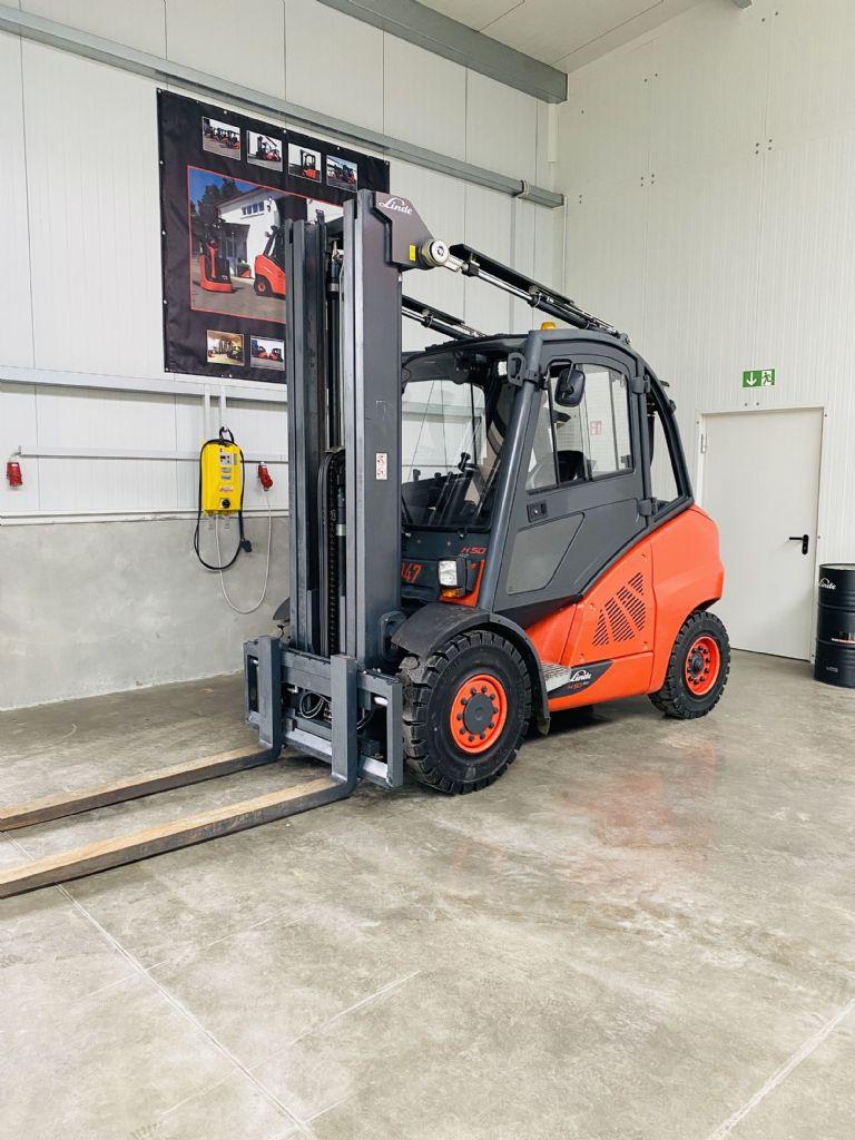 Linde H 50 D-02 EVO 3B STVO Kabine Triplex Dieselstapler www.mr-staplerservice.de