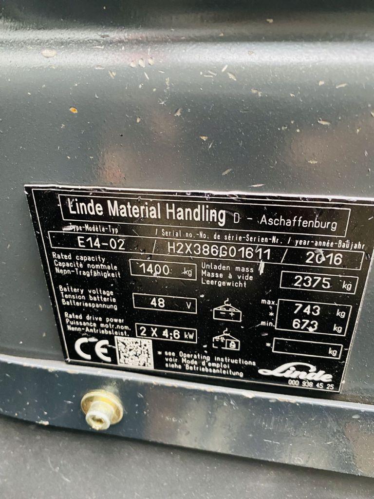 Linde-E 14-02 EVO -Elektro 3 Rad-Stapler-www.fleischmann-foerdertechnik.de