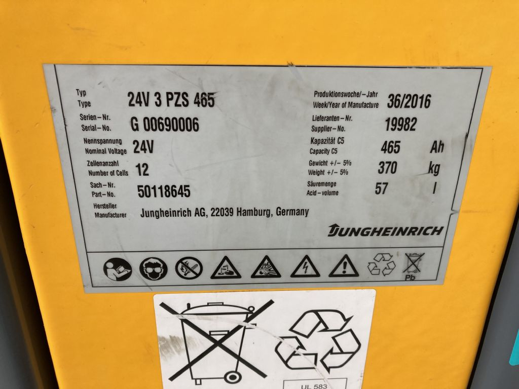 Jungheinrich ECE 220 / 2012 Std.  Niederhubkommissionierer www.forkliftcenter-bremen.de