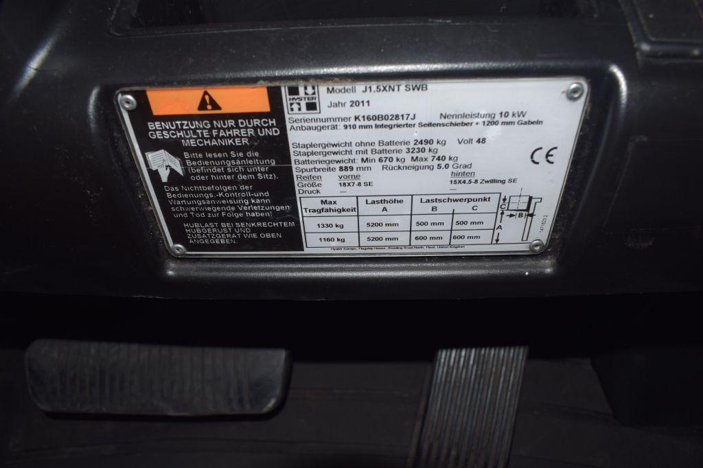Hyster J 1.50 XNT SWB Elektro 3 Rad-Stapler www.gs-gabelstapler.de