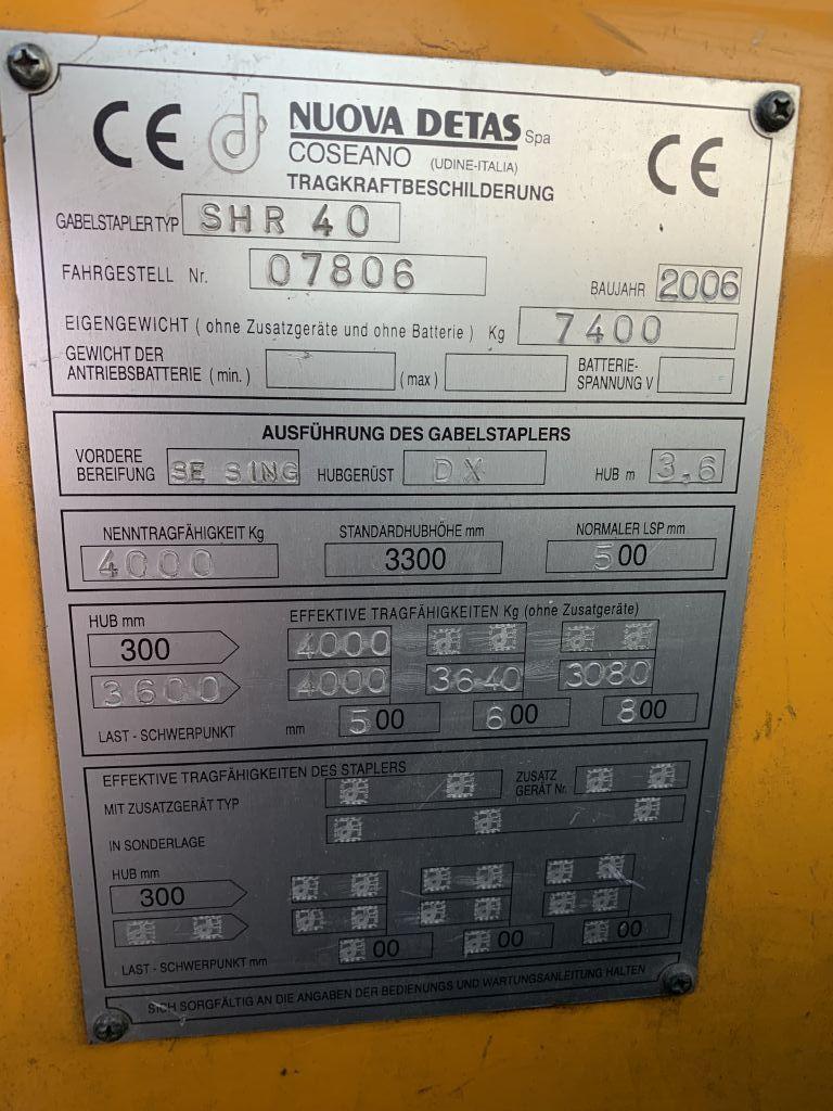 Detas Detas SHR 40 Baujahr 2006 / Stunden 3052 HH 3600 Dieselstapler www.gst-logistic.com