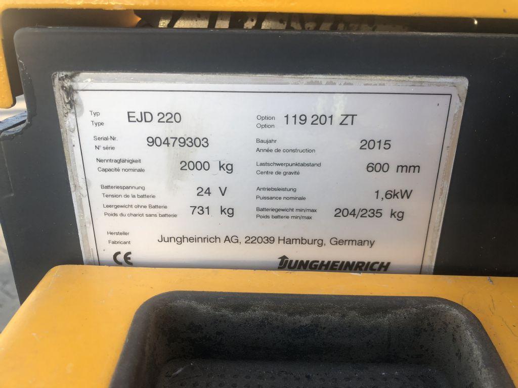 Jungheinrich EJD 220 Baujahr 2015/Stunden 2952 / HH2010 Hochhubwagen www.gst-logistic.com