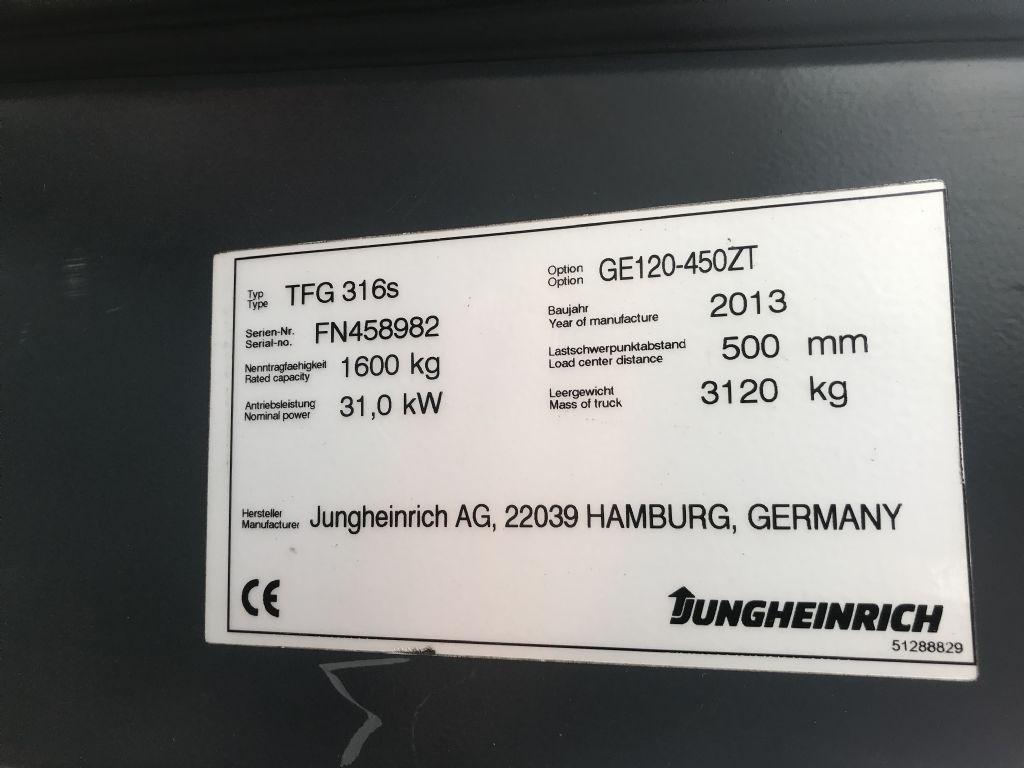 Jungheinrich TFG 316s Baujahr 2013 /Stunden 8445 / HH 4500 Treibgasstapler www.gst-logistic.com