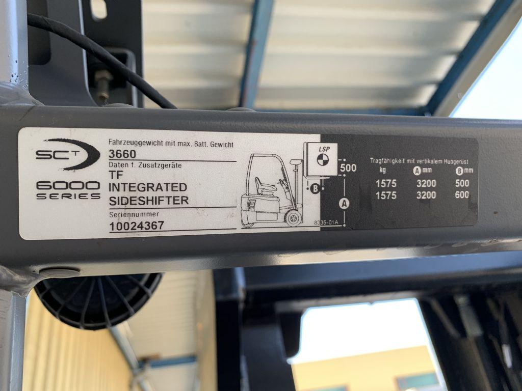Crown SCT 60-40-1.6 Baujahr 2016/ STUNDEN 441 / NEUWERTIG Elektro 3 Rad-Stapler www.gst-logistic.com